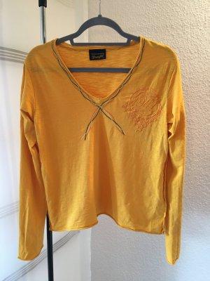 Wrangler Koszulka z długim rękawem złotopomarańczowy