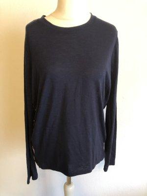 Shirt Langarmshirt locker dunkelblau Gr. 42