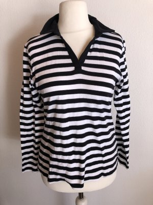 Koszulka polo biały-czarny Bawełna