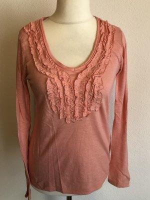 Shirt Langarmshirt Longsleeve rosa Gr. S