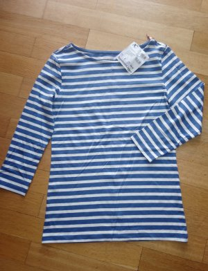 munich freedom Stripe Shirt blue-white cotton