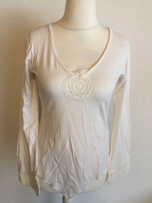 Shirt Langarmshirt weiß mit Details Gr. 38