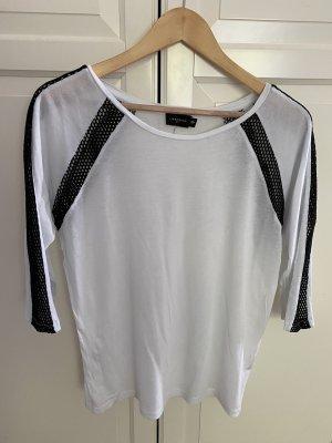 Liebeskind T-shirt wit-zwart