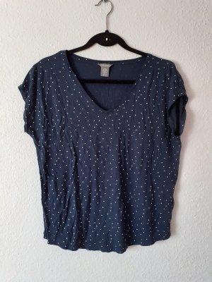 Shirt Lindex Größe 40 M blau gepunktet Tshirt