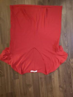 Shirt Longhirt rot tiefer V Ausschnitt  leicht Oversize