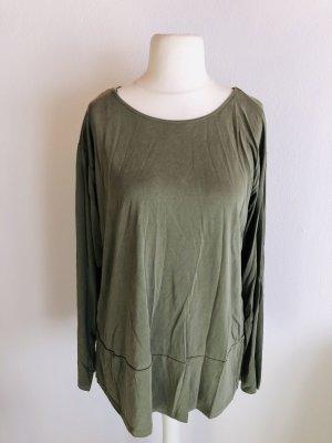 Shirt Longshirt Langarmshirt weich khaki Gr. L NEU mit Etikett