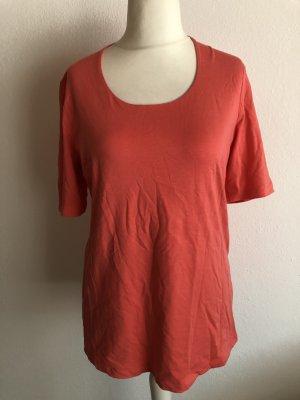 Shirt Longshirt T-Shirt Basic lachs Gr. M