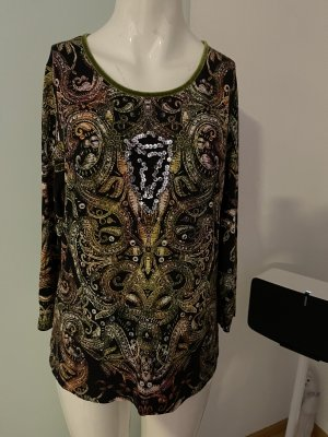 Shirt Longsleeve mit Pailletten von Apanage Gr 42 XL