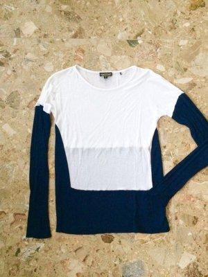 Shirt, longsleeve, semitransparent,  maritim, rundhals