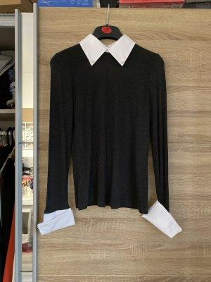 Mango Suit Turtleneck Shirt multicolored