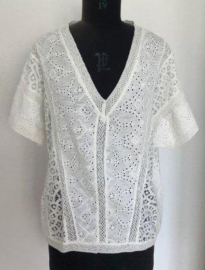 Mango Camisa de mujer blanco puro