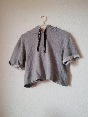 H&M Divided Top à capuche gris clair
