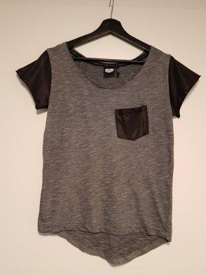 Shirt mit Ärmeln im Lederlook von Catwalk Junkie Gr S
