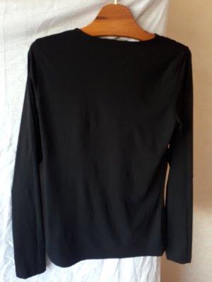 Hugo Boss Camisa con cuello caído negro