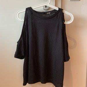 H&M Divided Camisa tipo Carmen negro