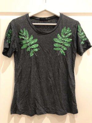 Shirt mit Blättern XS