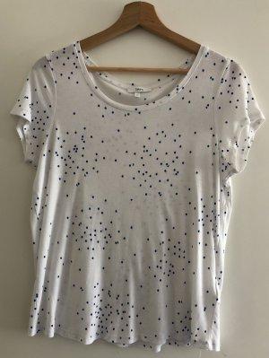 Shirt mit blauen Punkten