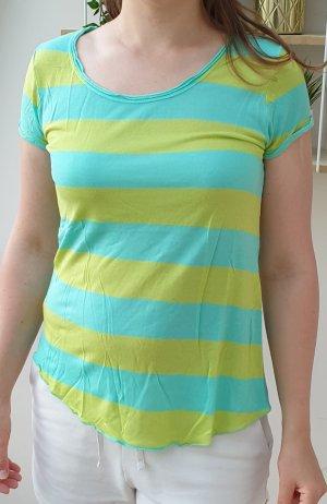 Shirt mit Blocksteifen, Ringelshirt von Hallhuber,  Gr. XS