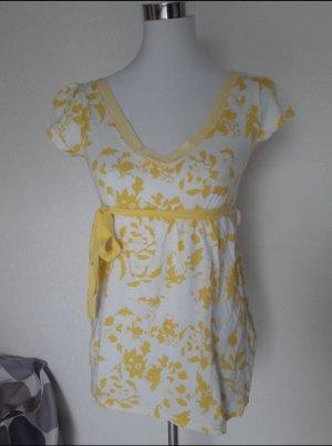 Colors of the world Camicia fantasia bianco-giallo
