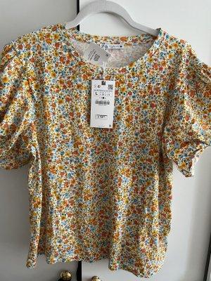 Shirt mit Blumenprint von zara