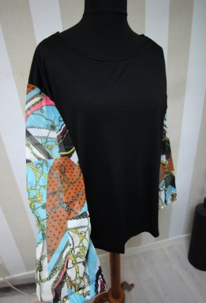 Shirt mit bunten Ärmeln scarf print chic tunika