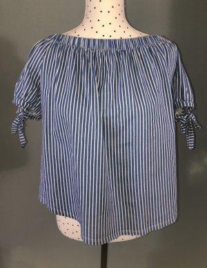 H&M Carmen Shirt white-azure