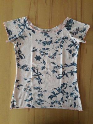 Shirt mit Cut-Outs und Blumenmotiv