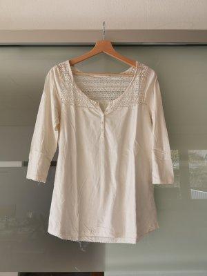 H&M Gehaakt shirt wolwit