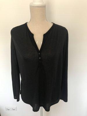 Shirt mit Dreiviertelärmeln, Knopfleiste und Raffungen, Gr. S/36