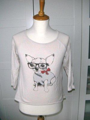 Shirt mit Dreiviertelarm, beige meliert, Promod, Gr. 34/XS
