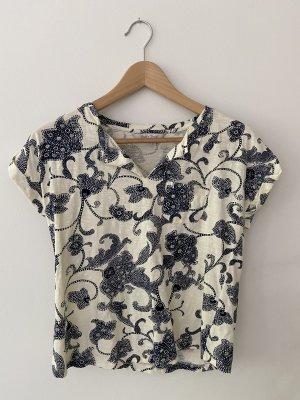 Shirt mit dunkelblauem Parsley-Muster