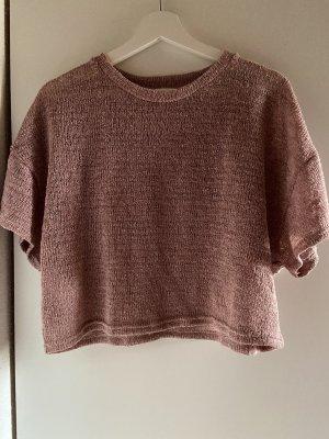 Mango Gehaakt shirt lichtroze-stoffig roze