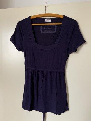 Yessica Camisa tipo túnica violeta oscuro-violeta amarronado