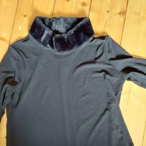 Shirt mit Fellkragen