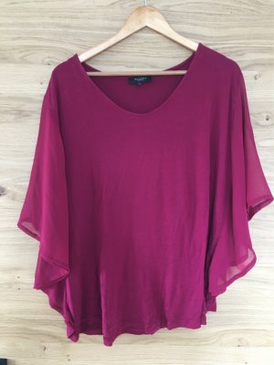 Bexleys V-Neck Shirt magenta-raspberry-red
