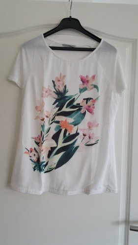 H&M Print Shirt white