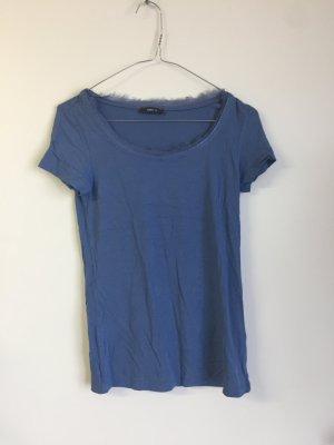 Shirt mit Fransen am Ausschnitt