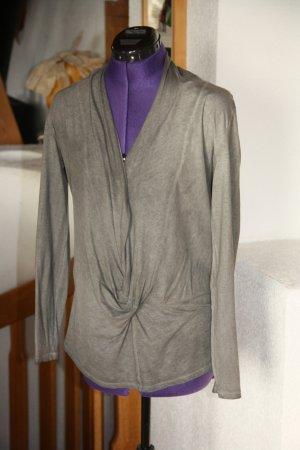 Fornarina V-Neck Shirt taupe-grey brown cotton