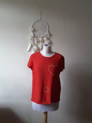 Shirt mit goldenem Herz