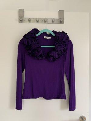 Cottonade Blouse Top dark violet