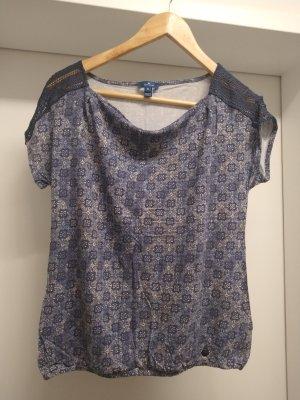 Tom Tailor Camisa con cuello caído azul acero