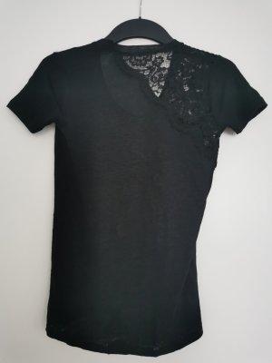 Zara Gehaakt shirt zwart Linnen