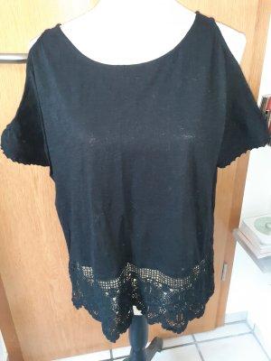 New Look Top en maille crochet noir