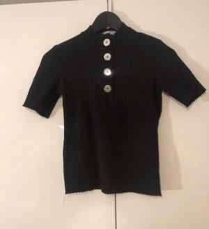 Bershka Chemise côtelée noir