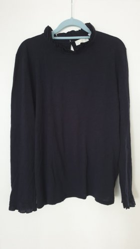 Rich & Royal Camisa de cuello de tortuga azul oscuro Algodón