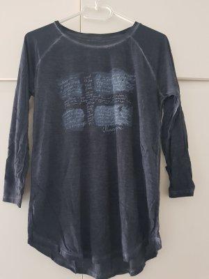Napapijri Print Shirt dark blue-steel blue