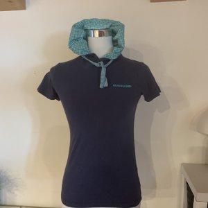 Top à capuche bleu-turquoise