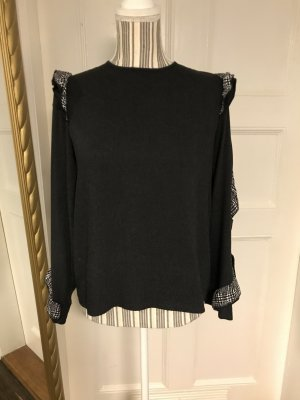 Shirt mit Karorüschen von Zara Gr. S