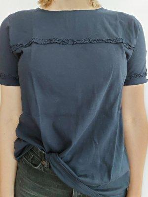 Shirt mit kleiner Rüschenkante von STEFANEL, Gr. 40