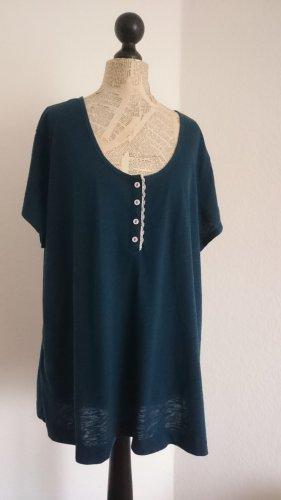 Shirt mit Knopfleiste , grün , Gr. 52